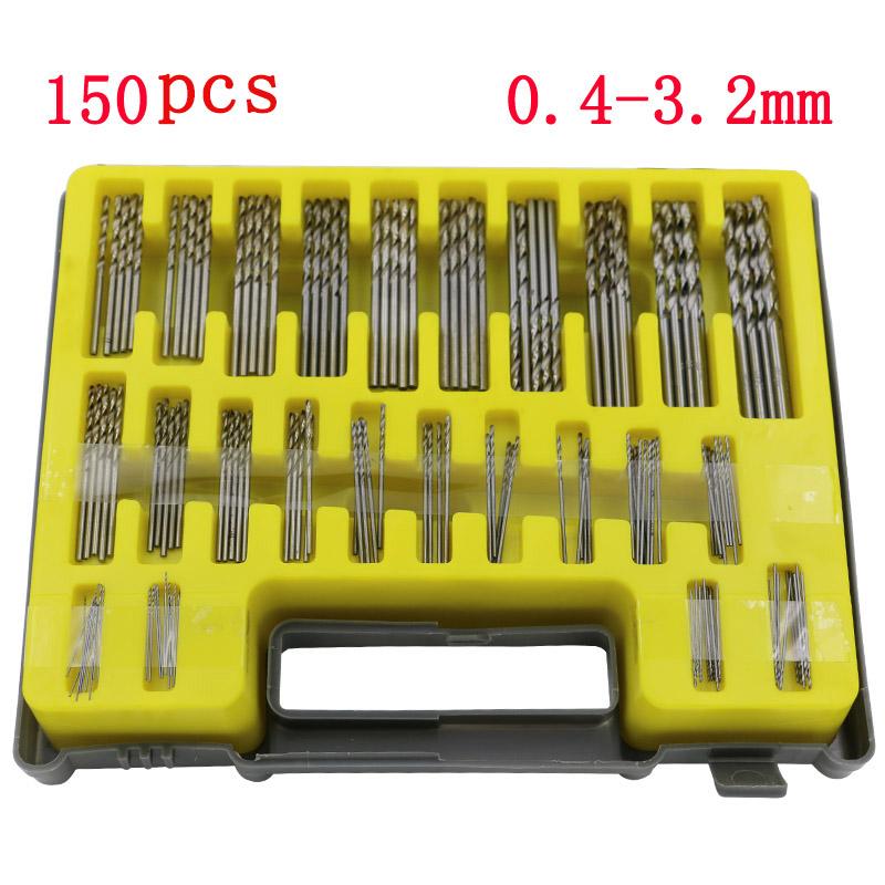 150PC 0 4 3 2mm HSS Mini Micro Power Drill Bit Set Precision Twist Drill Kit