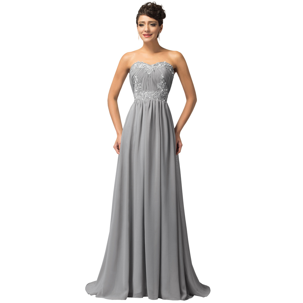 Plus Size Gray Formal Dresses 109