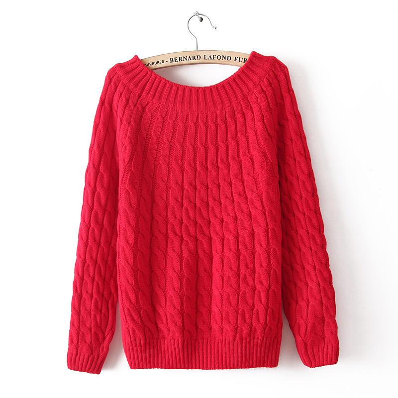 2015 осень и зима женщины толстый теплый вязаный свитер для женщины трикотаж с