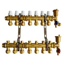 Латунь теплые полы подбассейну геотермальных вод ( двойной клапан может быть установлен привод