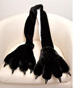 Winter Fashion Man unisex Anime cosplay black panda Cartoon animal Thick Casual Scarf