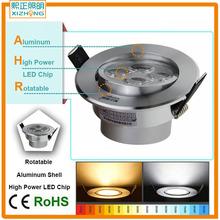 LED Panel Lamp DownLights spot light 4W 5W Warm White CE Round Aluminum AC100-240V bulb Indoor Decoration(China (Mainland))