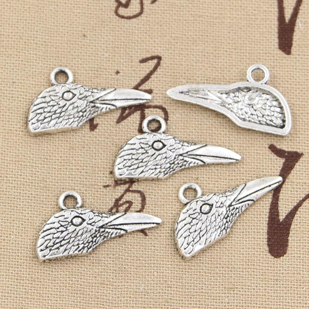 20pcs Charms eagle head 27*14mm Hollow Antique pendant fit,Vintage Tibetan Silver,DIY for bracelet necklace(China (Mainland))
