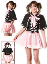 Black and Cotton Mini Lolita with a Wrap Dress
