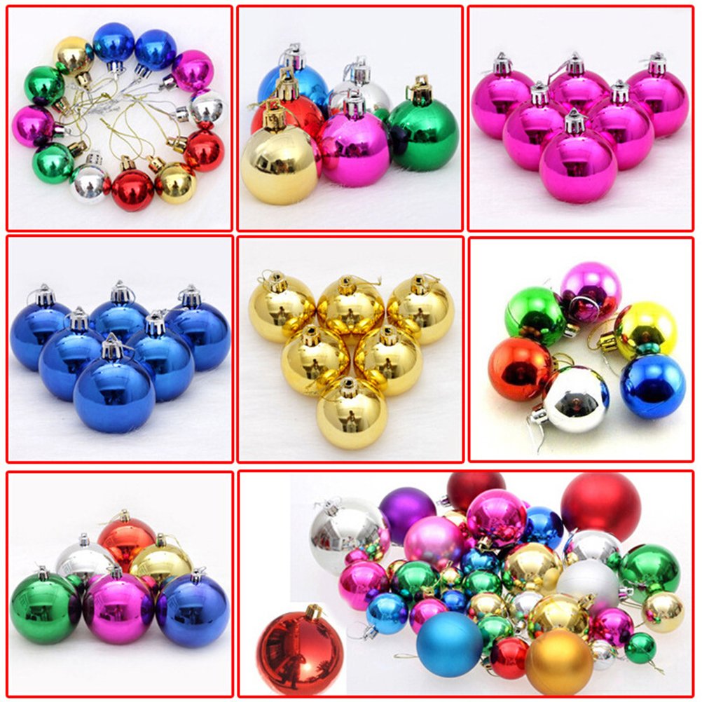 24pcs Multicolor Decorative Theme Pack of Diameter 4cm,christmas balls decorations gift natal christmas ornament navidad(China (Mainland))