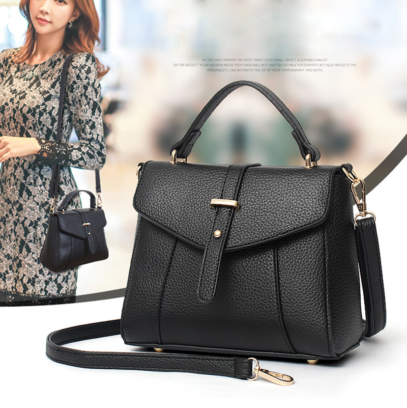 Women Fashion Litchi Lychee Pattern Everyday Handbags Crossbody Bags Embossed PU Leather Shoulder Bags Top Handle Messenger Bags(China (Mainland))