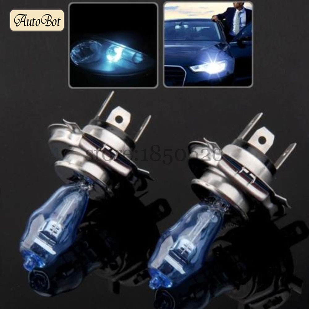 2PCS/Lot HOD H4 100W 4300K Amber Yellow And 6000K White color LED Light Xenon Halogen Fog Headlight Lamp Car Styling With Box(China (Mainland))