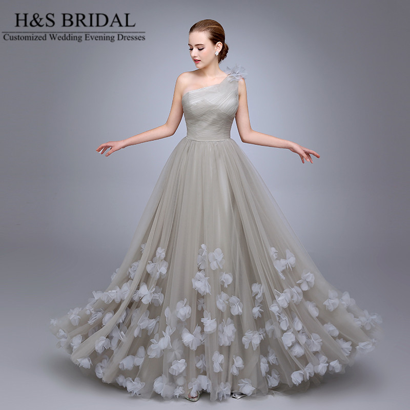 Buy hs11 one shoulder ladies popular for Evening gown as wedding dress