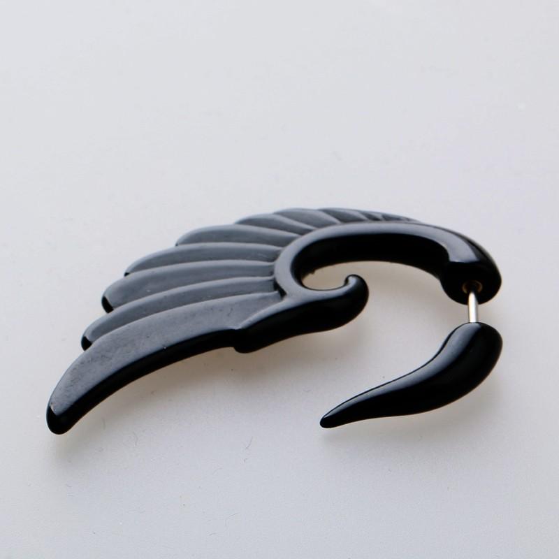 1piece Fashion Rock Spiral men earrings Summer style pierced Stainless Steel Jewelry black Stud Earring for women animal brincos