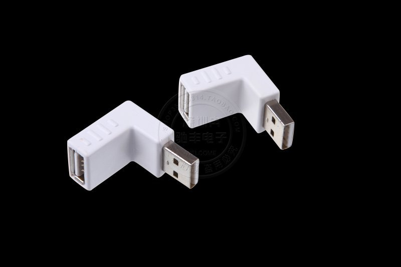 USB2.0 90 degree angles revolution of mother conversion head TO extend the elbow white USB AM TO AF transfer head(China (Mainland))