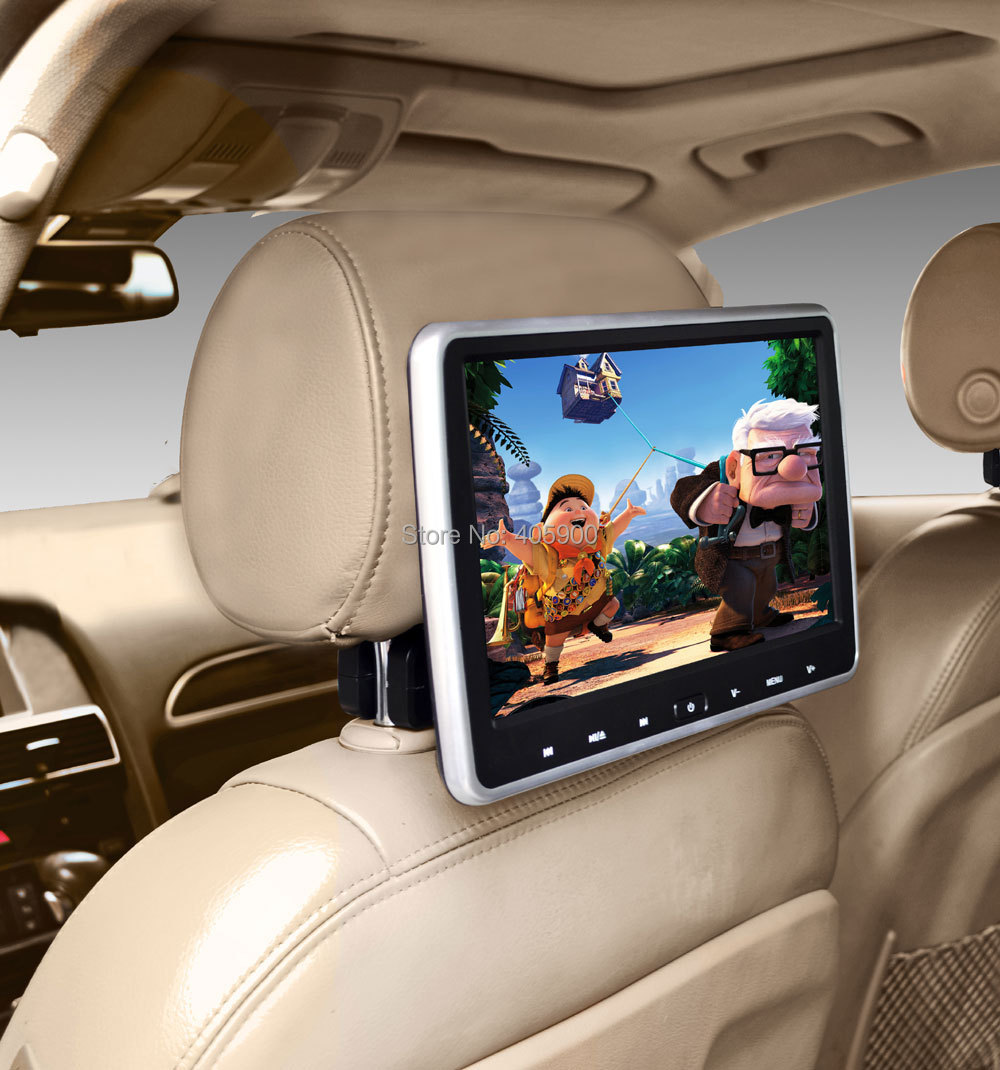 HDMI Input DIY install Free shipping 10.1 inch HD Headrest Car dvd player with SONY OR HITACHI Laser Lens For Renault Volvo etc(China (Mainland))