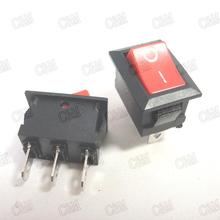 New 5Pcs/lot 3 feet 2 files power On/Off Car Boat Rocker Switch 6A / 250V KCD1-101 red(China (Mainland))