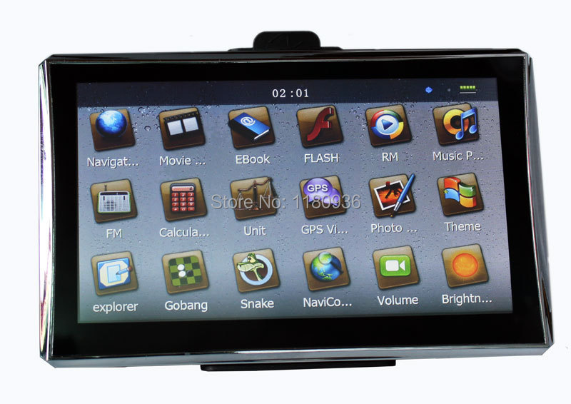 7'' car gps navigator navigation super slim system with mp3 mp4 fm touch screen with map preload(China (Mainland))