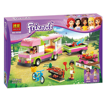 Bela Friends Series Adventure camping car Model 10168 Building Blocks baby toy for girl compatible with lego LR-597(China (Mainland))