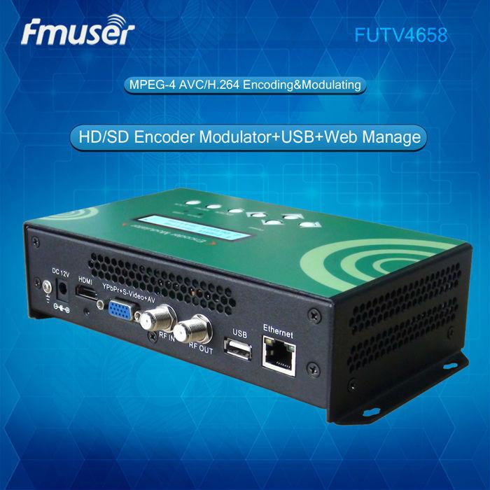 DVB-C(QAM)/DVB-T/ATSC/ISDBT MPEG-4 AVC/H.264 HD Encoder Modulator video encoder(China (Mainland))
