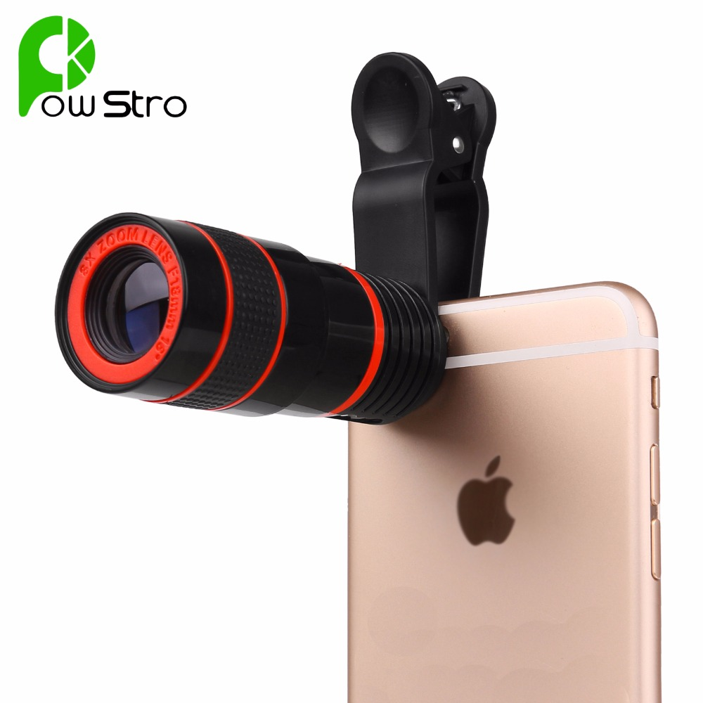 8x Zoom Optical Phone Telescope Portable Mobile Phone Telephoto Camera Lens and Clip for iPhone Samsung HTC Huawei XIAOMI Etc(China (Mainland))