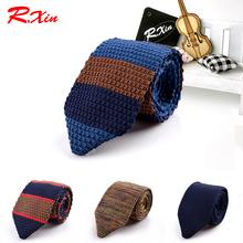 New Design Fashion Male Brand Slim Designer Knitted Ties Neck Ties Cravate Narrow Skinny Neckties For Men Striped Ties(China (Mainland))