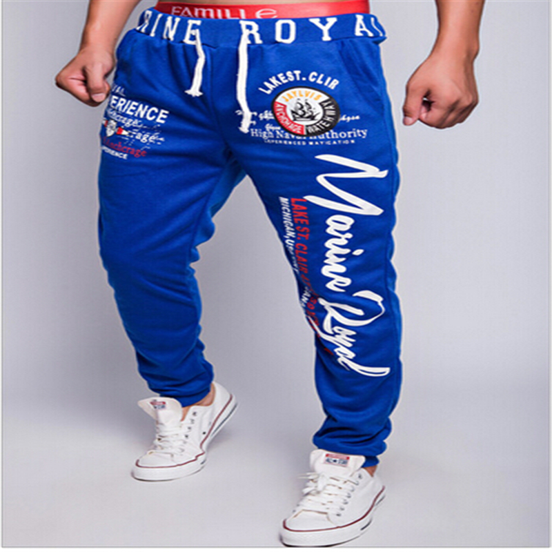 2016new winter Men in Europe and the popular printing trousers fitness pants(China (Mainland))