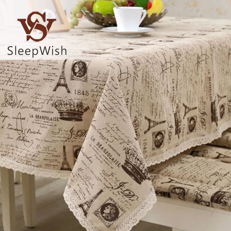 SleepWish Tablecloths Crown Pattern European Table Cover Multi Functional Cotton Line Lace Table Cloth 9 Sizes(China (Mainland))
