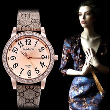 2014 Classics Pattern Round Women Casual Luxury Leather Wristwatch Hour Free Drop shipping Crystals Quartz Watch