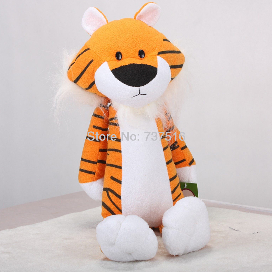 "New 18"" Orange Tiger Cute Figure Sweet Sprouts Black White Plush Toys Stuffed Animal Dolls Xmas Gifts(China (Mainland))"