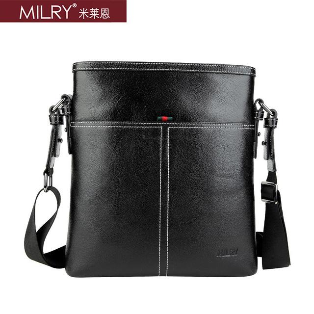 Brand MILRY 100% Genuine Leather shoulder Bag for men messenger bag fashion business bag cross body real cowhide bag CS0010-1