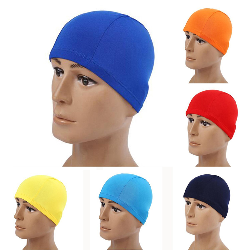 Adults Children Kids Elastic Fabric Ears Protection Sports Swim Pool Surfing Shower Hat Swimming Cap Free size for Men & Women(China (Mainland))