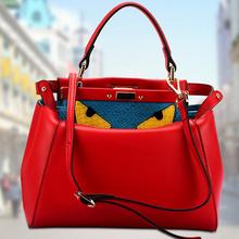 Mini 100% genuine leather bags Crocodile Little Monster Eye women handbag tote shoulder bags