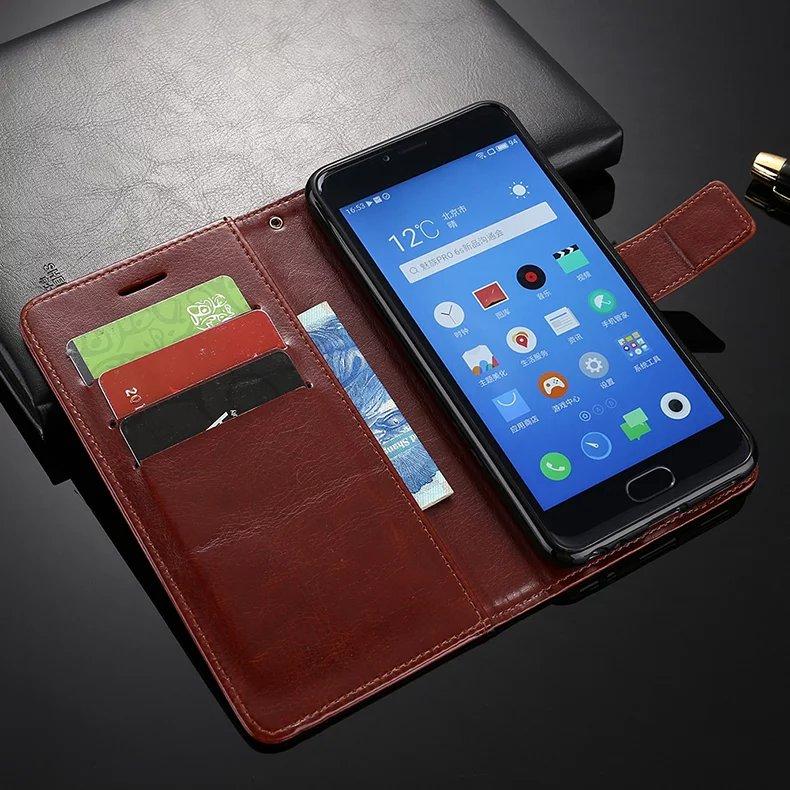Screen Protector+Stand Flip Wallet Leather Cover Case Meizu M5/Meizu M5s/Meizu M3X Case Card Slots