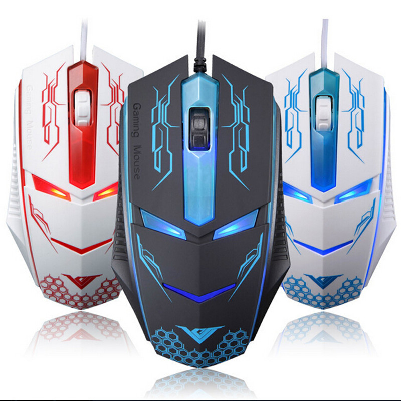 2016 New Gaming Mouse Cool Design Professional Iron Man shape Wired Game Mice For Computer Peripherals mause sem fio(China (Mainland))