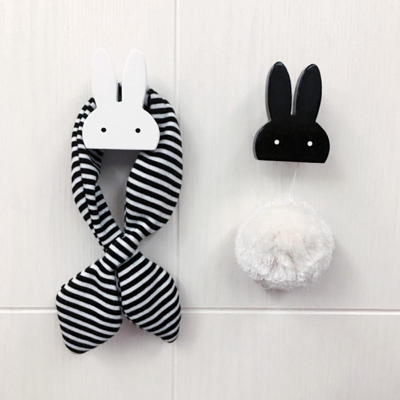 1 pc Cute Bunny Wooden Hook For Kids Room Wall Decoration Rabbit Wooden Hanger Hook For Coat/Hat /Bag Rack 4(China (Mainland))