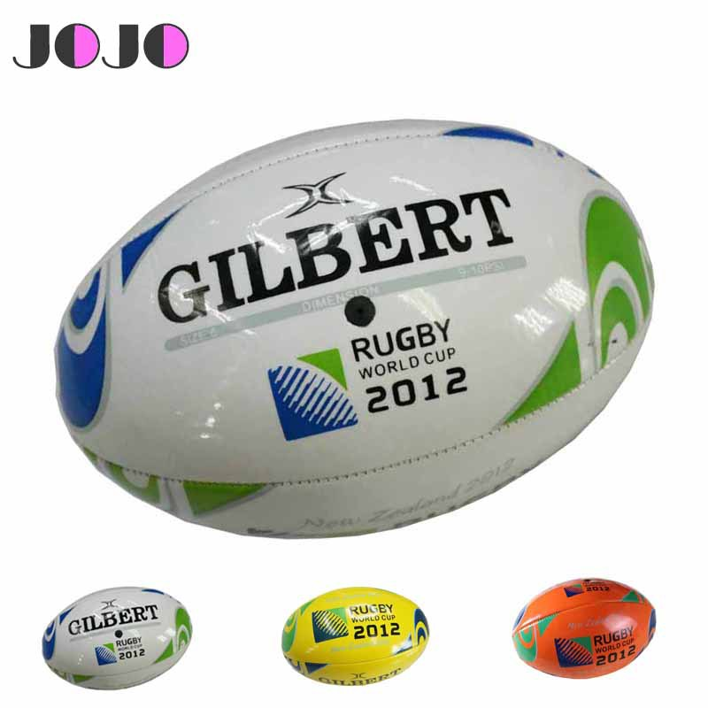 3 Colors Standard PU Rugby Ball,2012 Classic League Match English Rugby Ball Size 5 JR-007(China (Mainland))