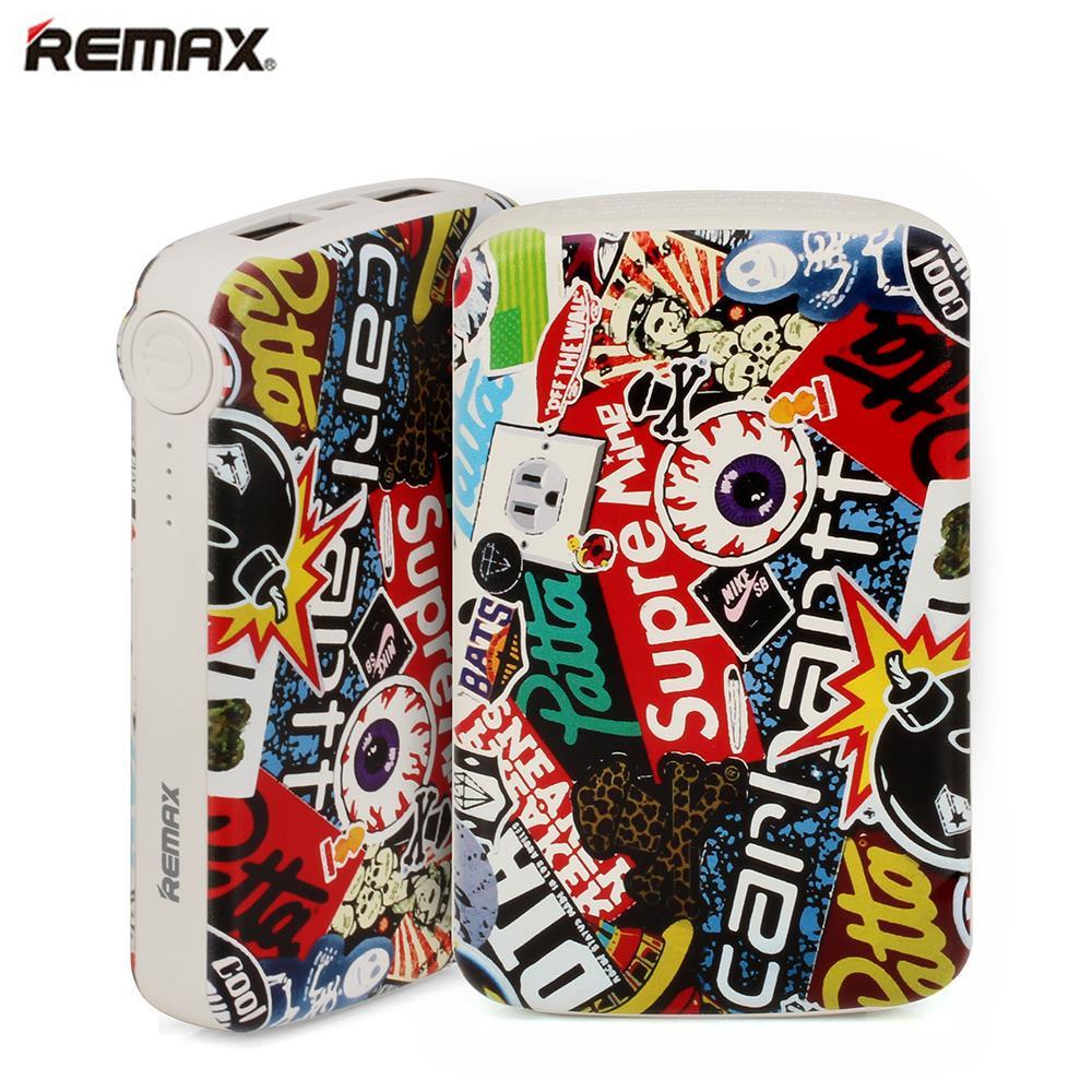 REMAX Dual USB Ports 10000mAh Portable Power Bank Charger Bateria Externa Fast Charging Cartoon Powerbank for Mobile Phones