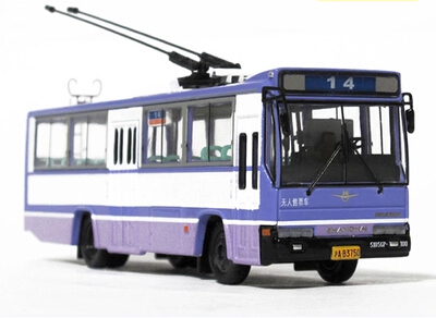 1:76 Shanghai bus 14 Road, a small square SK5105GP trolley Bus Model Free shipping(China (Mainland))