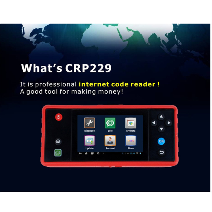 """Professional Launch Creader CRP229 Touch5.0"""" Android System OBD2 Full Diagnostic Update Online Wifi Supported CRP 229 CodeReader(China (Mainland))"""