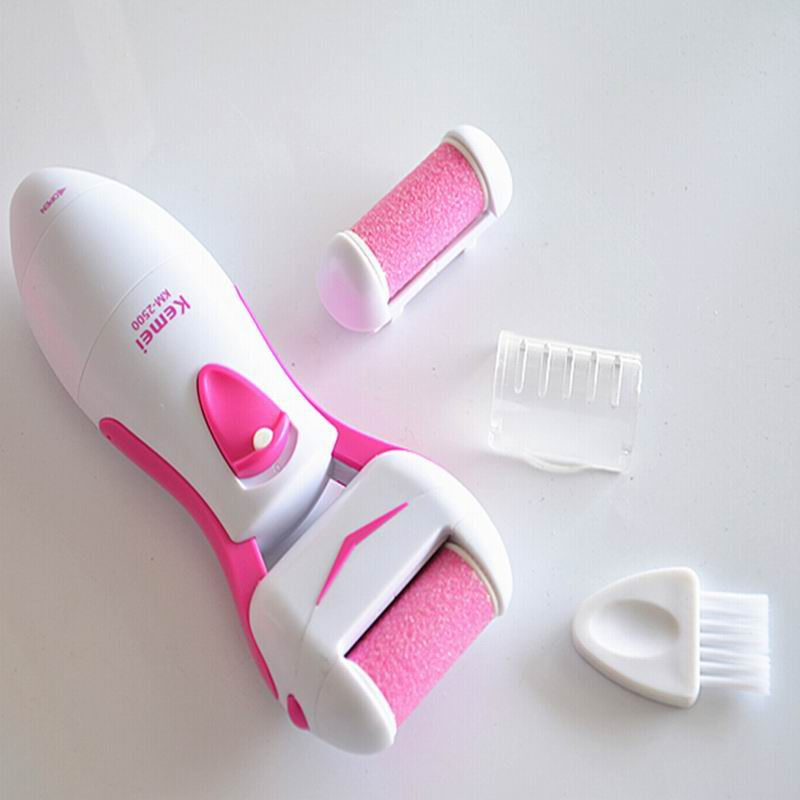 Foot Care Tool Skin Feet Dead Dry Removal Electric Exfoliator Heel Cuticles Remover Pedicure KM2500 - HeHui E Shop store