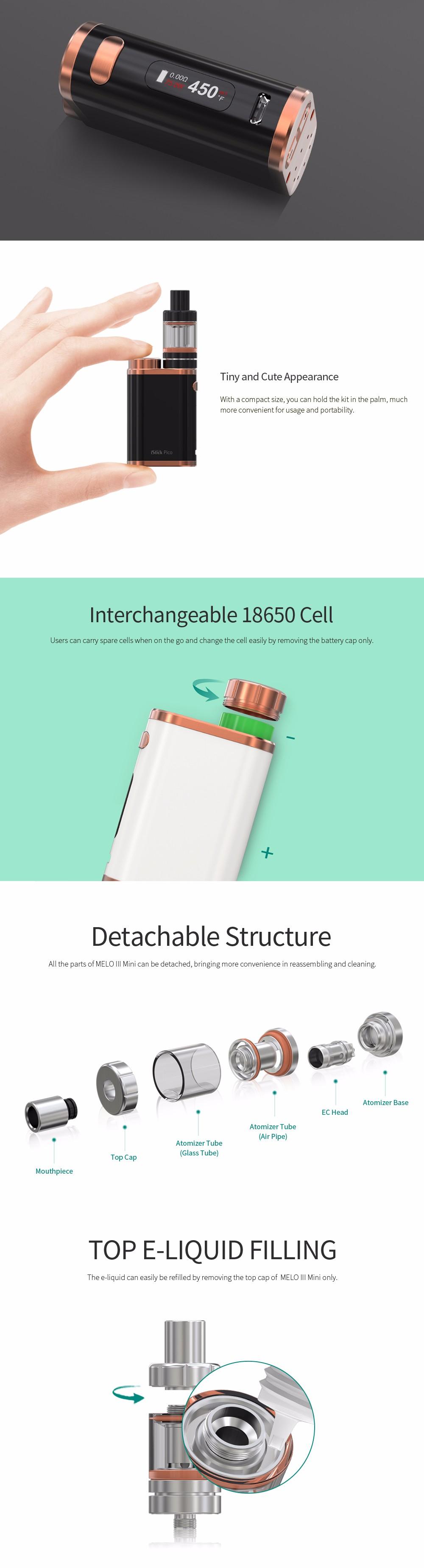 ถูก ของแท้100% Eleaf Istick pico TC 75วัตต์ไอVaporizerชุดบุหรี่อิเล็กทรอนิกส์มอระกู่อิเล็กทรอนิกส์nargileบุหรี่อิเล็กทรอนิกส์Vapeชุด