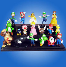 Super Mario Bros Lots 12 pcs Action Figure Doll toys(China (Mainland))