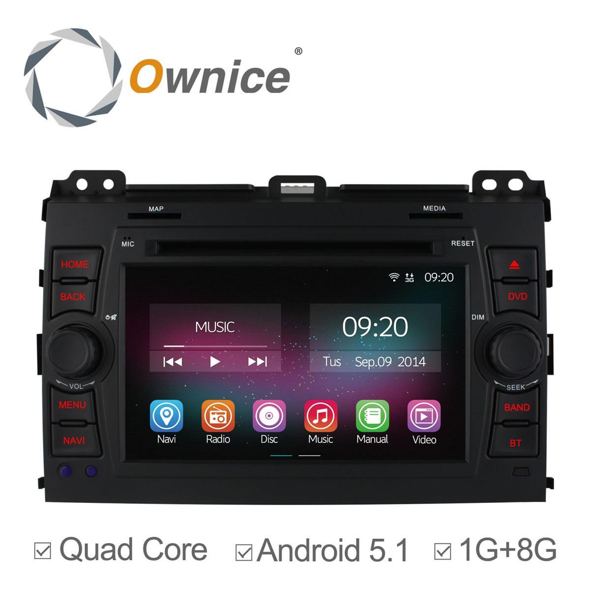 Android 5.1 Car DVD Player For Toyota Prado Land Cruiser 120 2002 2003 - 2009 Quad Core Radio GPS Navigation support 3g dvr(China (Mainland))