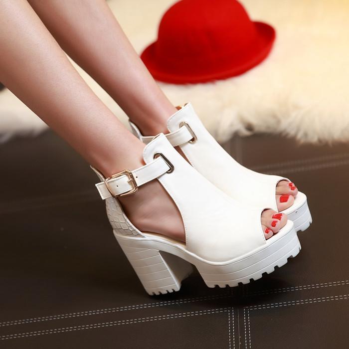 Summer sandals women 2015 high platform sandals female thick heel high heels peep toe sandals shoes women sandalias plataforma