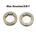 2PCS Chainsaw Part Clutch Rim Sprocket 3 8 Pitch 7 tooth Fit HUS365 372 MS381 380