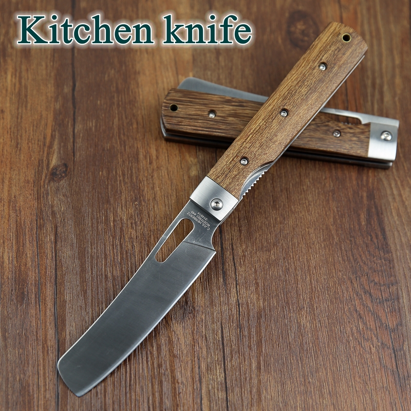 Quality Kitchen Knives: 440A Pocket Folding Kitchen Chef Knife Table Knife High