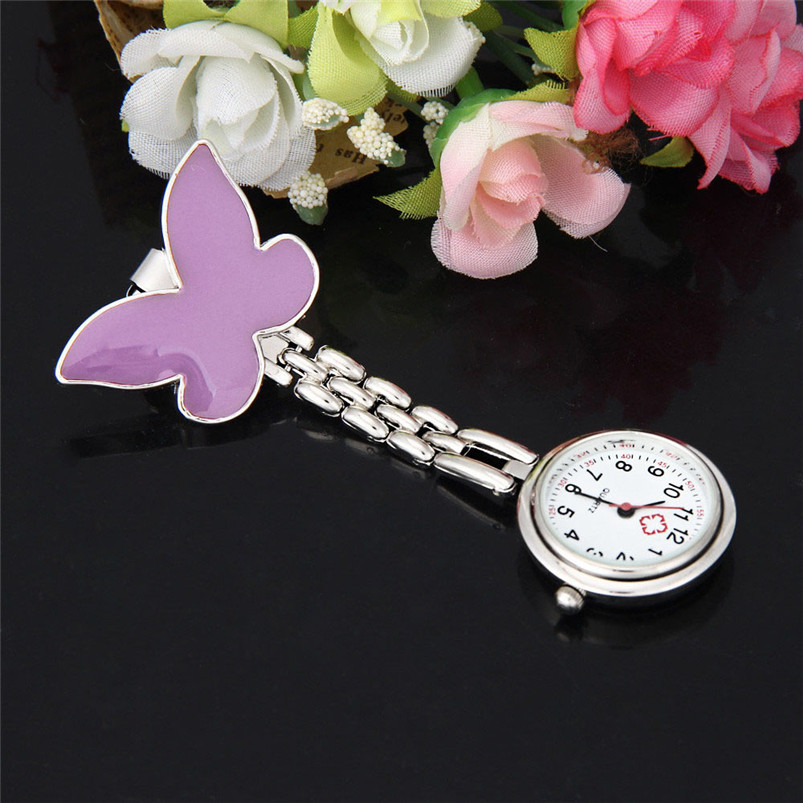 Relogio de bolso antigo Clip-on Fob Brooch Pendant Hanging Butterfly Watch Pocket Watch Steampunk Fast Shipping Vico(China (Mainland))