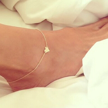 Ankle Bracelet Barefoot Sandals Jewelry Leg Chaine New Women Love Heart-Shaped On Foot Cheville Pulseras Tobilleras Tornozeleira