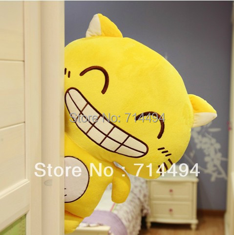 50cm Stuffed Animal Plush Cat Soft Toy Laughing Cat Lucky cat. High-quality. Free shipping Best Gifts For Girl And Kid(China (Mainland))