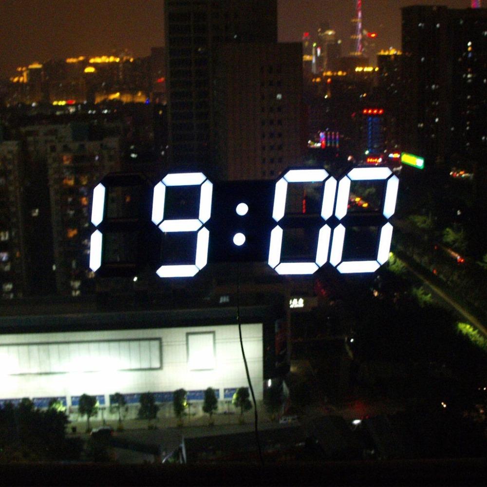 DHL Free Shipping DIY Beautiful Large LED Digital Wall Clock Modern Design Home Decor 3D Decoration
