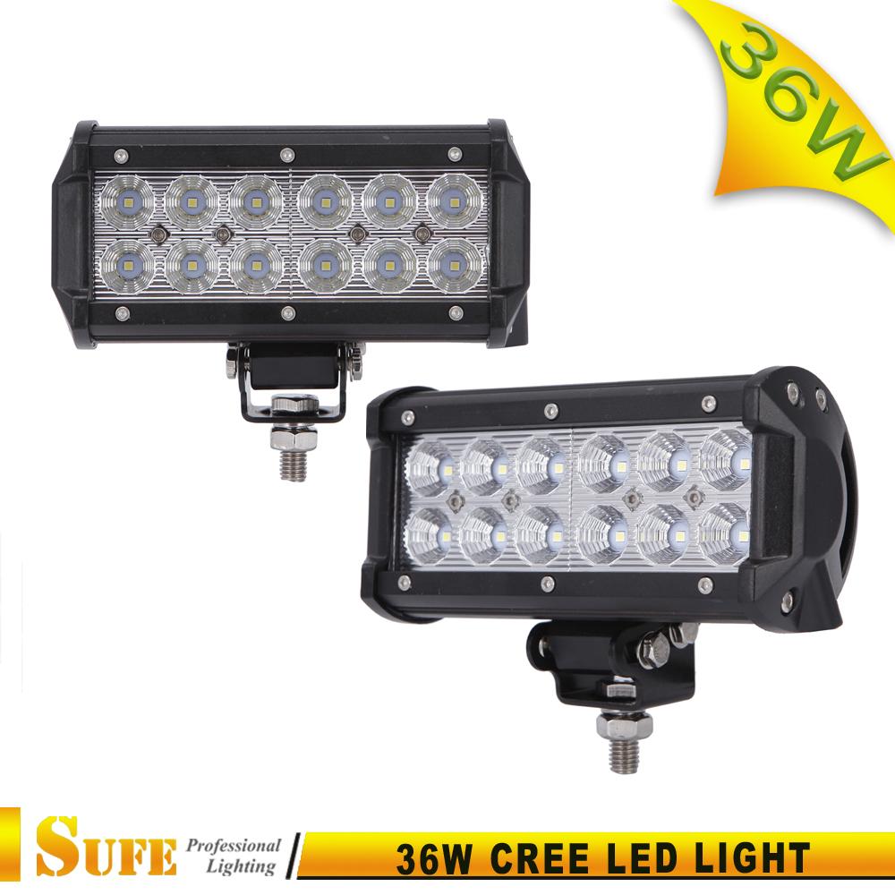 1 PCS 7 inch 36W Cree Led work light for Utv, Truck, Suv, Side By Side, Polaris, Rigid, Ranger, Golf Cart,,Cabin, Boat, Car, etc(China (Mainland))