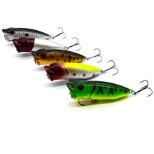 1 piece 6.5cm/2.56in 11.1g/0.39oz Artificial Bait Popper Fishing Lure Mini Small Topwater 3D Eyes Hard Bait Hook Tackle