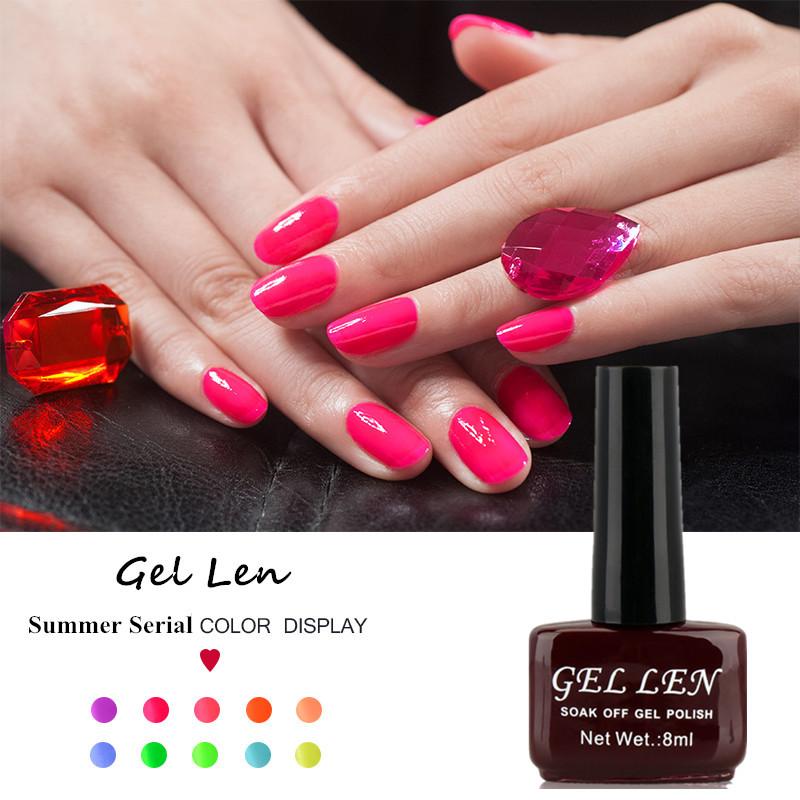 Гаджет  Gel Nail Polish Gel Len Long-lasting Soak-off UV/LED nail lacquer LED UV 8ml 1 pcs Hot Sale Nail Gel None Красота и здоровье