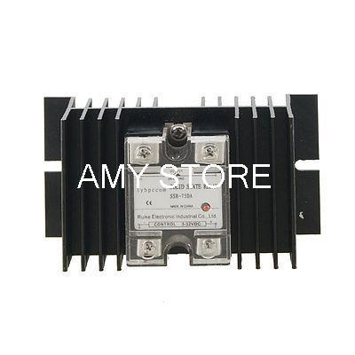 3-32VDC / 24-480VAC Solid State Relay SSR 75 Amp w Aluminum Heat Sink<br><br>Aliexpress